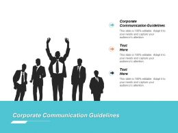 Corporate Communication Guidelines Ppt Powerpoint Presentation File Slide Portrait Cpb