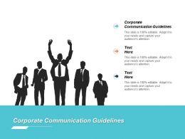 Corporate Communication Guidelines Ppt Powerpoint Presentation File Slide Portrait Cpb