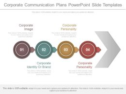 Corporate Communication Plans Powerpoint Slide Templates