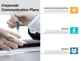 Corporate Communication Plans Ppt Powerpoint Presentation Show Templates Cpb