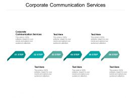 Corporate Communication Services Ppt Powerpoint Presentation Inspiration Master Slide Cpb