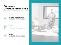Corporate Communication Skills Ppt Powerpoint Presentation Infographic Cpb