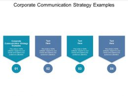 Corporate Communication Strategy Examples Ppt Powerpoint Presentation Shapes Cpb