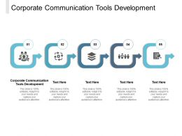 Corporate Communication Tools Development Ppt Powerpoint Presentation Layouts Cpb