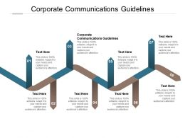 Corporate Communications Guidelines Ppt Powerpoint Presentation Summary Inspiration Cpb