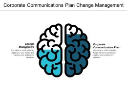 Corporate Communications Plan Change Management Strategic Risks Conversion Plan Cpb