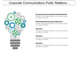 Corporate Communications Public Relations Performance Review Goals Objectives Cpb