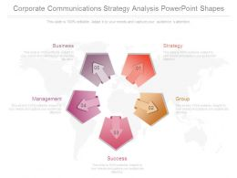 Corporate Communications Strategy Analysis Powerpoint Shapes