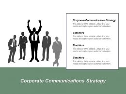 Corporate Communications Strategy Ppt Powerpoint Presentation Pictures Rules Cpb
