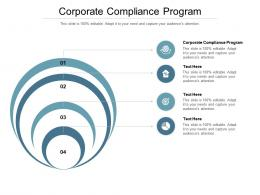 Corporate Compliance Program Ppt Powerpoint Presentation Layouts Backgrounds Cpb