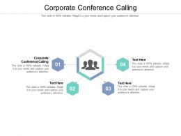 Corporate Conference Calling Ppt Powerpoint Presentation Summary Good Cpb