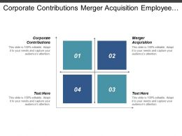 Corporate Contributions Merger Acquisition Employee Incentive Motivation Work Cpb