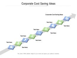 Corporate Cost Saving Ideas Ppt Powerpoint Presentation Infographic Template Guide Cpb
