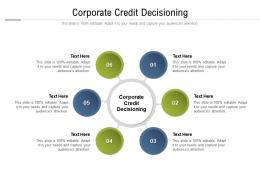 Corporate Credit Decisioning Ppt Powerpoint Presentation Outline Objects Cpb