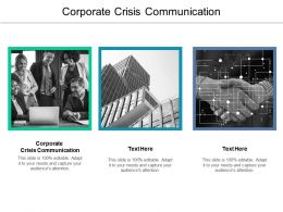 Corporate Crisis Communication Ppt Powerpoint Presentation Diagram Graph Charts Cpb