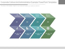 Corporate Culture And Administration Example Powerpoint Templates
