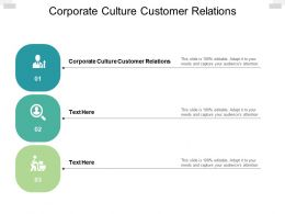 Corporate Culture Customer Relations Ppt Powerpoint Presentation Smartart Cpb