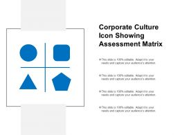 Corporate Culture Icon Showing Assessment Matrix
