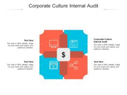 Corporate Culture Internal Audit Ppt Powerpoint Presentation Inspiration Shapes Cpb