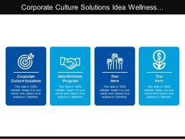 Corporate Culture Solutions Idea Wellness Program Operational Excellence Cpb