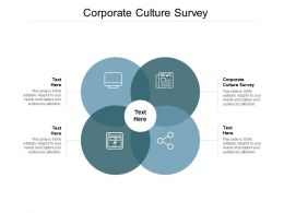 Corporate Culture Survey Ppt Powerpoint Presentation Ideas Example Cpb