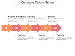 Corporate Culture Survey Ppt Powerpoint Presentation Ideas Templates Cpb
