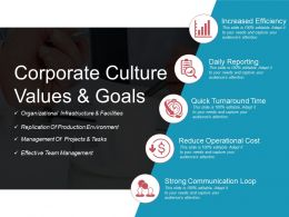 Corporate Culture Values And Goals Powerpoint Shapes