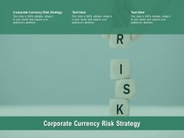Corporate Currency Risk Strategy Ppt Infographic Template Graphics Download Cpb