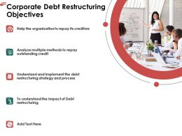 Corporate Debt Restructuring Objectives Credit Ppt Powerpoint File Elements