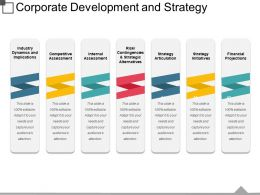 Corporate Development And Strategy Powerpoint Templates