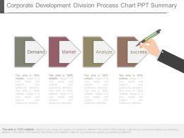 Corporate Development Division Process Chart Ppt Summary