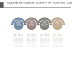 Corporate Development Hierarchy Ppt Powerpoint Slides