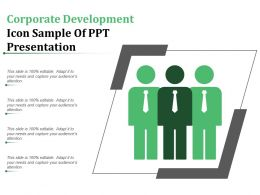 Corporate Development Icon Sample Of Ppt Presentation