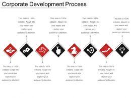 Corporate Development Process Ppt Infographics
