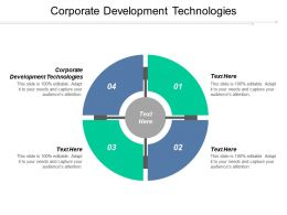 Corporate Development Technologies Ppt Powerpoint Presentation Summary Graphics Pictures Cpb