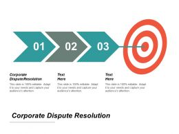 Corporate Dispute Resolution Ppt Powerpoint Presentation Icon Pictures Cpb