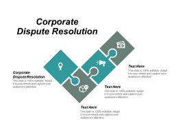 Corporate Dispute Resolution Ppt Powerpoint Presentation Infographic Template Designs Cpb