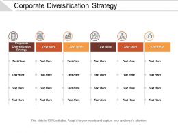 Corporate Diversification Strategy Ppt Powerpoint Presentation Icon Portfolio Cpb
