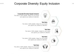 Corporate Diversity Equity Inclusion Ppt Powerpoint Infographic Template Styles Cpb