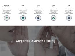 Corporate Diversity Training Ppt Powerpoint Presentation Infographic Cpb