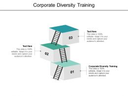 Corporate Diversity Training Ppt Powerpoint Presentation Summary Template Cpb