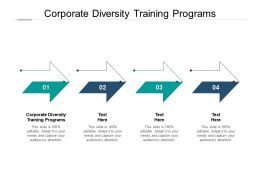 Corporate Diversity Training Programs Ppt Powerpoint Presentation Shapes Cpb