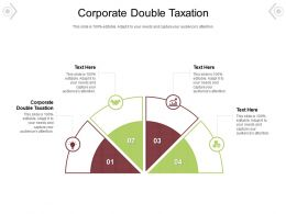 Corporate Double Taxation Ppt Powerpoint Presentation Pictures Design Templates Cpb