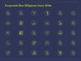 Corporate Due Diligence Icons Slide Ppt Powerpoint Presentation Icon Graphics