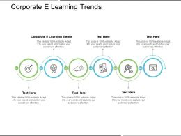 Corporate E Learning Trends Ppt Powerpoint Presentation Summary Graphics Template Cpb