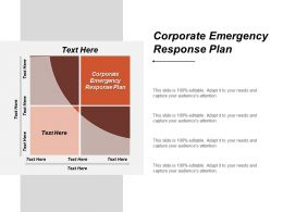 Corporate Emergency Response Plan Ppt Powerpoint Presentation Icon Professional Cpb