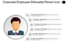 Corporate Employee Silhouette Person Icon Ppt Design
