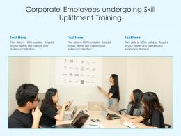 Corporate Employees Undergoing Skill Upliftment Training