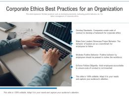 Corporate Ethics Best Practices For An Organization