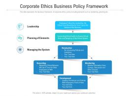 Corporate Ethics Business Policy Framework